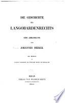 Die Geschichte des Langobardenrechts