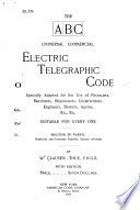 The A B C Universal Commercial Electric Telegraphic Code Book PDF
