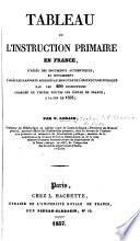 Tableau de l instruction primaire en France  d apr  s des documents authentiques  et notamment d apr  s les rapports adress  s au Ministre de l Instruction Publique par les 490 inspecteurs charg  s de visiter toutes les   coles de France     la fin de 1833