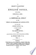 A Select Collection of English Songs