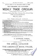 The Publishers  and Stationers  Weekly Trade Circular