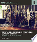 Capital Punishment in Twentieth Century Britain