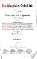 Neuphilologisches Zentralblatt