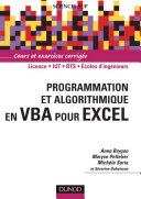 Programmation et algorithmique en VBA pour Excel   Livre compl  ments en ligne