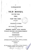 A catalogue of old books