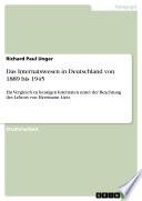 Das Internatswesen in Deutschland von 1889 bis 1945