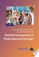 Qualit  tsmanagement in Kindertageseinrichtungen
