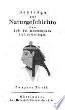 Beyträge zur Naturgeschichte
