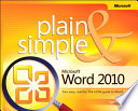 Microsoft Word 2010 Plain   Simple