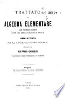 Trattato d'algebra elementare