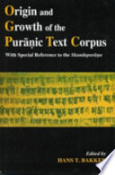 Origin And Growth Of The Pur Ic Text Corpus book