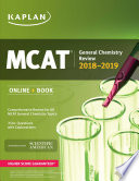 MCAT General Chemistry Review 2018 2019