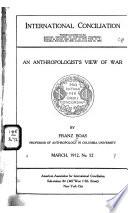 An Anthropologist s View of War