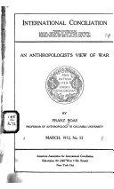 An Anthropologist's View of War