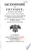 Dictionnaire de Physique portatif