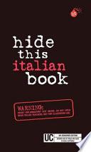 Hide This Italian Book