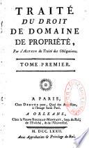 illustration Traité du droit du domaine, de propriété