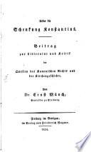 Ueber die Schenkung Konstantins