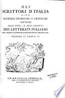 Gli scrittori d Italia