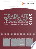 Graduate Programs in the Biological Biomed Sciences   Health Related Med Prof 2015  Grad 3