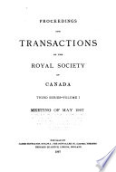 Proceedings of the Royal Society of Canada