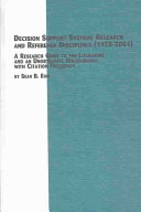 Decision Support Systems Research and Reference Disciplines  1970 2001