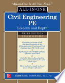 Civil Engineering All In One PE Exam Guide  Breadth and Depth  Third Edition