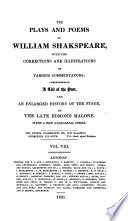 The Plays and Poems of William Shakspeare  Merry wives of Windsor  Troilus and Cressida