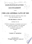Consolidated Supplement to the Codes and General Laws of 1909