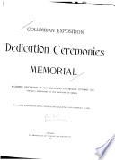 Columbian Exposition Dedication Ceremonies Memorial