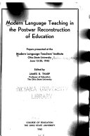 Modern Language Teaching in the Postwar Reconstruction of Education