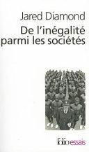 De L'Inegalite Parmi Les Societes : liée aux différences de milieux,...