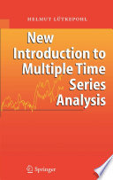 New Introduction To Multiple Time Series Analysis book