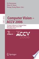Computer Vision Accv 2006 book