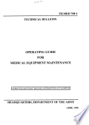 Operating Guide for Medical Equipment Maintenance