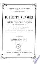 Bulletin des récentes publications françaises
