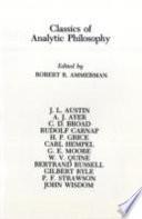 Classics of Analytic Philosophy