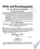 Gesetzsammlung f  r das K  nigreich Sachsen