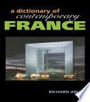 A Dictionary of Contemporary France