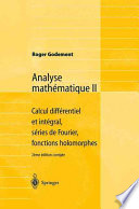 illustration du livre Analyse mathématique II