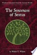The Sentences of Sextus