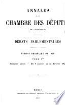 Annales de la Chambre des d  put  s