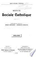 Revue catholique sociale et juridique