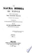 La    sacra bibbia di Vence giusta la quinta edizione del     Drach     per cura di Bartolomeo Catena  etc