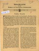 News Bulletin Of The Bureau Of Vocational Information