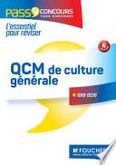 QCM de culture générale - Tous concours - Entraînement et révision - Pass'Concours