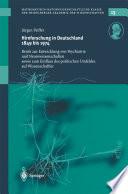 Hirnforschung in Deutschland 1849 bis 1974
