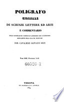 Poligrafo. Giornale di scienze lettere ed arti