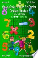 illustration CalcuDoku Pour Enfants Grilles Mixtes - Facile à Difficile - Volume 1 - 145 Grilles