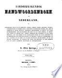 Aardrijkskundig handwoordenboek van Nederland